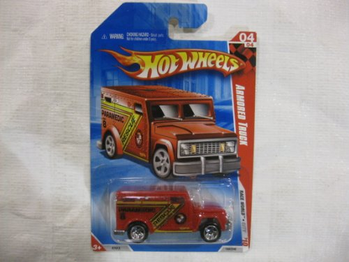 Hot Wheels 04 Series Armored Truck Race World City Paramedic Rescue Vehicle Collector #10 1:64 Scale - 1