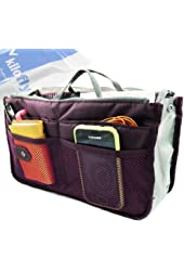 kilofly Purse Insert Organizer, Expandable, with Handles