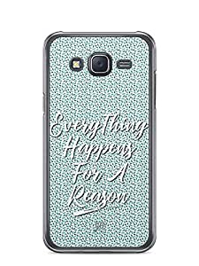 YuBingo Everything Happens For A Reason Designer Mobile Case Back Cover for Samsung Galaxy J5
