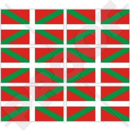 Drapeau-Pays-Basque-EUSKADI-Pas-Vasco-Espagne-40-mm-406-cm-Tlphone-Mobile-Mini-en-vinyle-autocollants-Stickers-x6