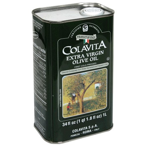 Colavita Extra Virgin Olive Oil, 34-Ounce Tins (Pack of 2) by Colavita
