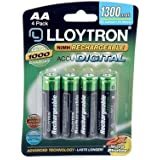 Lloytron Rechargeable Battery 4 Pack 1300 mAh Size AA