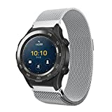 Coohole 2017 New Fashion Milanese Stainless Steel Watch Band Strap Bracelet For Huawei Watch 2 (Silver)