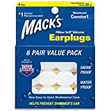 Macks Pillow Soft Silicone Earplugs Value Pack, 6 Count