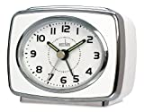 Acctim 13872 Retro 2 Alarm Clock, White