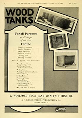 1922 Ad Wood Tanks Chemical Leather Dyes Water Textile Industry Filtration Acid - Original Print Ad