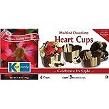 Kane Candy Chocolate, Heart, 2.47-Ounce Cups