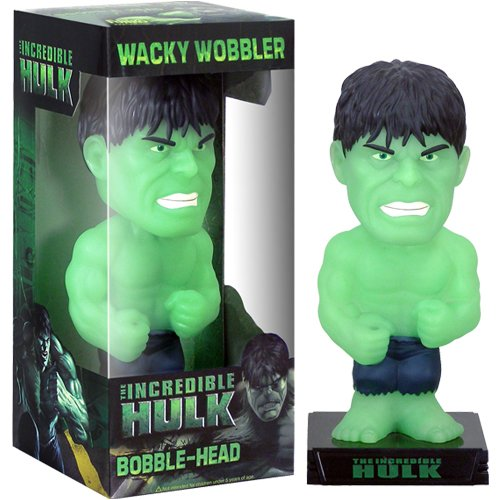 Buy Low Price Funko Marvel Incredible Hulk Glow in the Dark Bobble Head Wobbler by Funko Figure (B001DW2PZC)