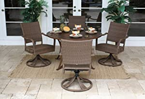 3 grenada 5 pc slatted table dining set w 48 in table