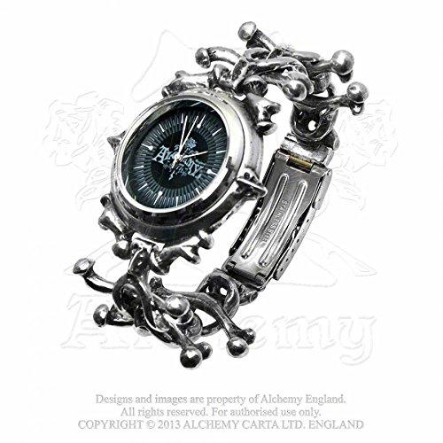 Alchemy Gothic (Metal-Wear) AW19 - Orologio da polso, cinturino in acciaio inox
