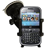NEW IN CAR WINDSCREEN HOLDER SUCTION MOUNT CRADLE FOR SAMSUNG S3350 CHAT