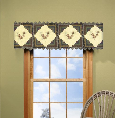 sharp bathroom window coverings | Pine Cone Curtains - Everything Log Homes