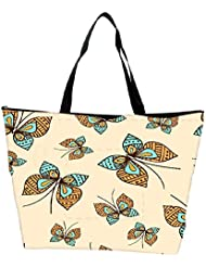 Snoogg Abstract Butterfly Designer Waterproof Bag Made Of High Strength Nylon
