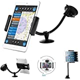 Car Mount,Bestwe Dashboard Windshield Long Hose Car Mount Holder With Ultra Block For iPad mini2/3/4,iPhone 6s/6/5s/5c/5,Samsung Galaxy S6/S5/S4 Note 4/3,Sony,HTC,LG or and Other 3.5-8 inches Devices