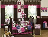 Sweet Jojo Designs Western Horse Cowgirl Pink and Brown Baby Girl Bedding 9pc Crib Set