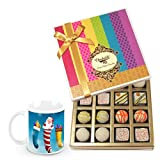 Moment Of Choice White Truffles Treat With Christmas Mug - Chocholik Belgium Chocolates