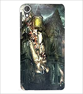 PrintDhaba Abstract Image D-4885 Back Case Cover for HTC DESIRE 820 (Multi-Coloured)