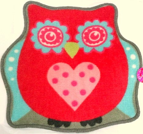 Valentine'S Day Owl Decorative Accent Rug~ Heart & Polka Dots~ Retro / Shabby Chic Style! front-183762