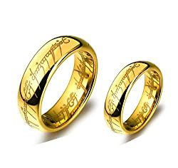 Sorella'z Lord of the Rings Golden Rings Set for Lovers