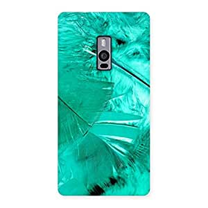 Stylish Feather Cyan Back Case Cover for OnePlus Two