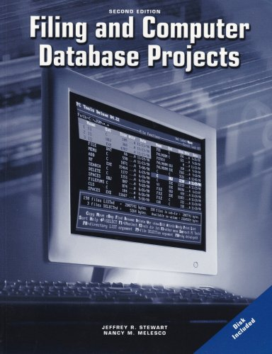 Filing and Computer Database Projects Workbook with CD-ROM