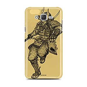 Motivatebox - Samsung Galaxy J2 Back Cover - Samurai Card Polycarbonate 3D Hard case protective back cover. Premium Quality designer Printed 3D Matte finish hard case back cover.