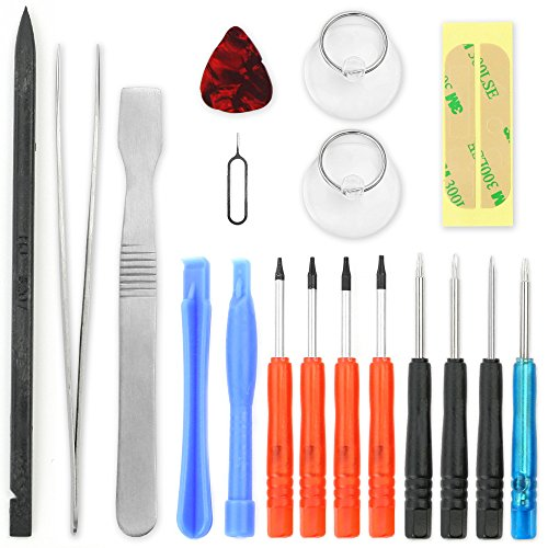 Set utensili di precisione per smartphone / set di cacciaviti da 18 pezzi per sostituzione della batteria, riparazione di telefoni cellulari, tablet, notebook, MacBook