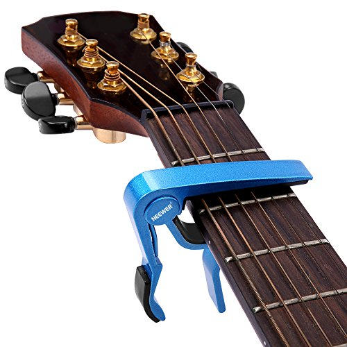 Single-handed Guitar Capo Quick Change Blue