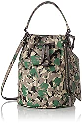 Marc by Marc Jacobs Metropoli Brush Tips Studs Bucket Cross Body Bag, Dark Moss Multi, One Size