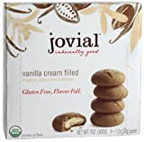 Jovial Cream Filled Organic Cookies, Gluten Free, Vanilla, 7-Ounce (Pack of 5)