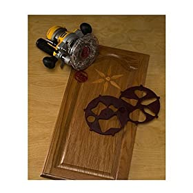 Milescraft 1208 TurnLock Wood Design Router Inlay Pattern Cutting Kit ...