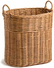 The Basket Lady Narrow Wicker Tote Basket L Toasted Oat