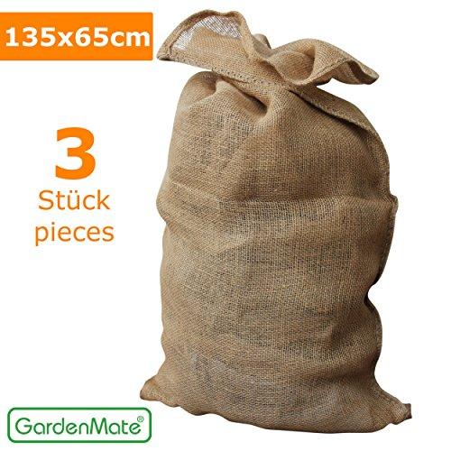 GardenMate® 3x Sacchi di Juta naturale 135 x 65 cm 340gsm
