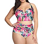 Chase Secret Womens Retro Vintage One Piece Swimwear Floral Monokinis Plus Size