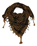 Craftshub Brown Desert Arafat Scarf - Stylish Arafat desert scarf for both men and women