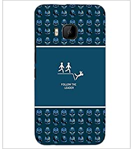 PrintDhaba Quote D-3632 Back Case Cover for HTC ONE M9S (Multi-Coloured)