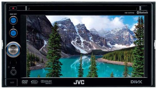JVC KW-AVX640 Double Din Multimedia DVD System with Full Speed iPod Control