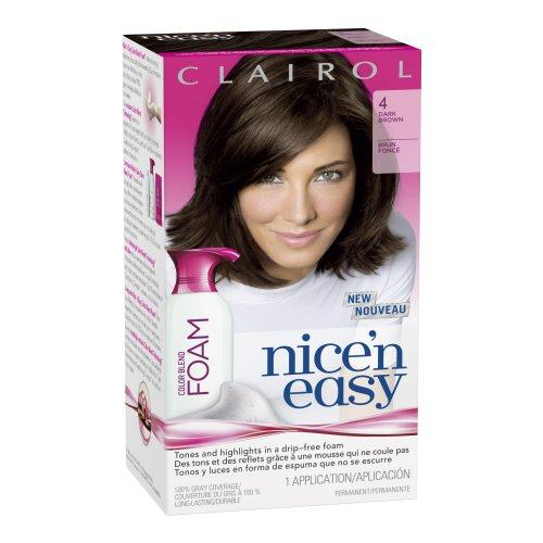 Clairol Nice 'N Easy Color Blend Foam Hair Color 4 Dark Brown 1 Kit