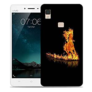 Snoogg Fire Horse Designer Protective Phone Back Case Cover For Vivo V3 Max