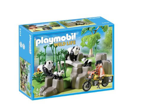 Playmobil Wild Life Pandas In Bamboo Forest Construction Toy