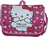 "Hello Kitty Sanrio 14"" Embroidered Face Messenger Bag"