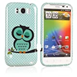 Tinxi® silicone back Protective Case Cover shell skin for HTC Sensation XL cute green owl