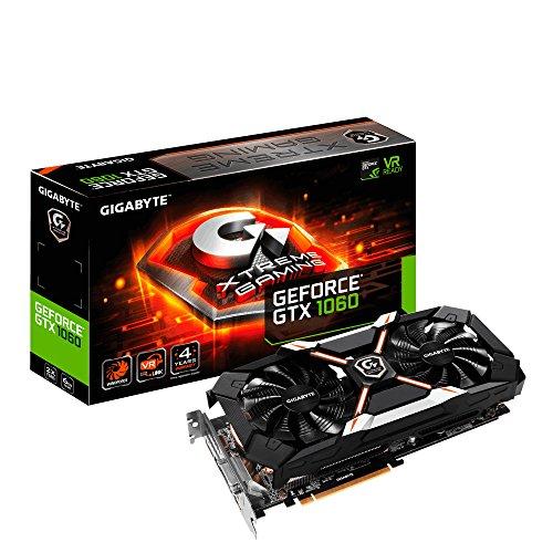 Gigabyte GV-N1060XTREME-6GD Xtreme Gaming 6G NVIDIA Graphics Card - Black (6 GB GeForce GTX 1060, 6 GB, GDDR5, 7680 x 4320, 192 Bit)