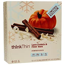 thinkThin Lean Protein & Fiber Bars, Pumpkin Spice 1.41oz