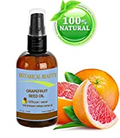 "GRAPEFRUIT SEED OIL. 100% Pure / Natural / Undiluted /Refined Cold Pressed Carrier oil. 4 Fl.oz.- 120 ml. For Skin, Hair and Lip Care. ""One of the richest natural sources of vitamin A ,C & E and natural fruit enzymes."" from Botanical Beauty"