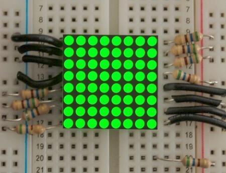 Mini 8X8 Green Led Matrix