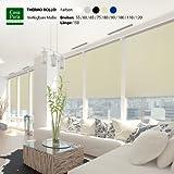 casa pura® Verdunkelungsrollo mit drei flexiblen Befestigungsarten in neun Größen | Creme | 110x150cm