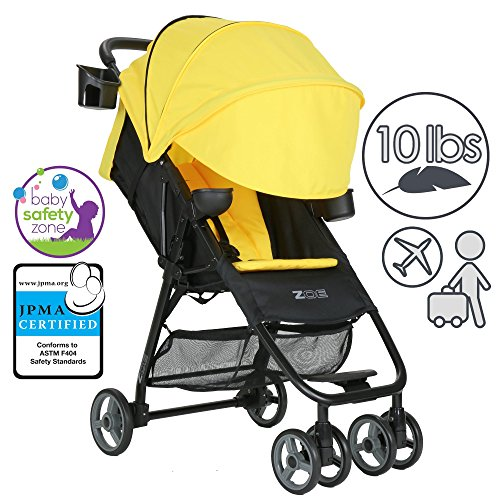 Buy ZOE XL1 DELUXE Xtra Lightweight Travel & Everyday Umbrella Stroller System (Yellow)