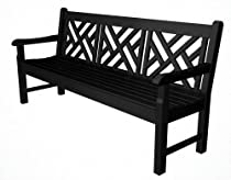 "Hot Sale POLYWOOD RKCB72BL Rockford 72"" Chippendale Bench, Black"