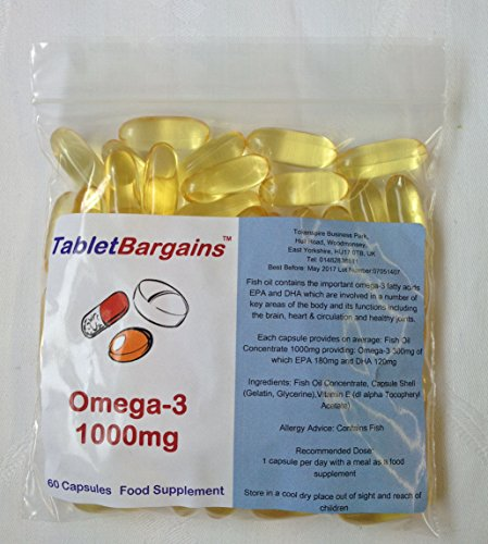 Tablet Bargains Omega-3 Fish Oil 1000mg - 60 Capsules